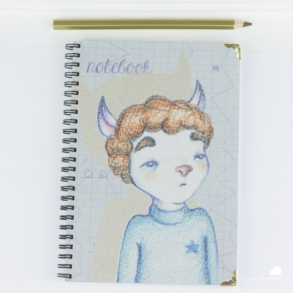 libreta , ilustración, campodefresas